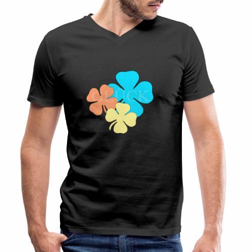 Design Glueck - Männer Bio-T-Shirt mit V-Ausschnitt von Stanley & Stella
