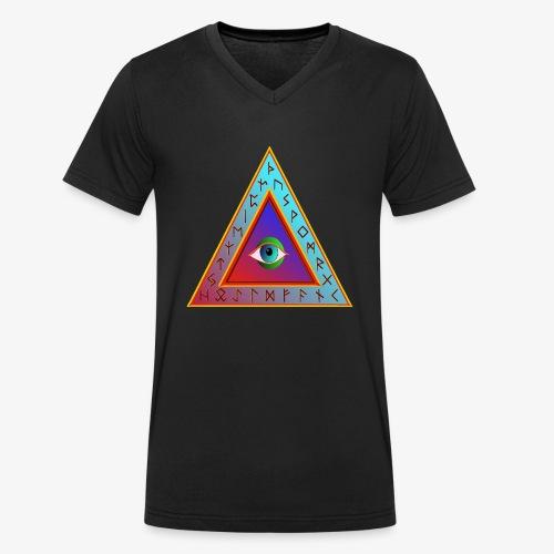 Dreieck - Männer Bio-T-Shirt mit V-Ausschnitt von Stanley & Stella