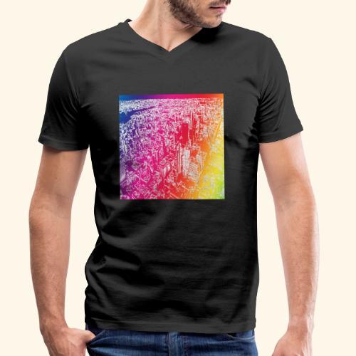 Manhattan arcobaleno - T-shirt ecologica da uomo con scollo a V di Stanley & Stella