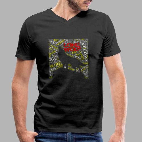 Lone Wolf - Men's Organic V-Neck T-Shirt by Stanley & Stella