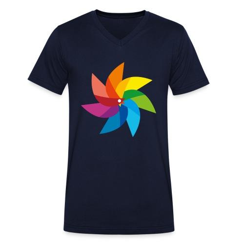 bunte Windmühle Kinderspielzeug Regenbogen Sommer - Men's Organic V-Neck T-Shirt by Stanley & Stella