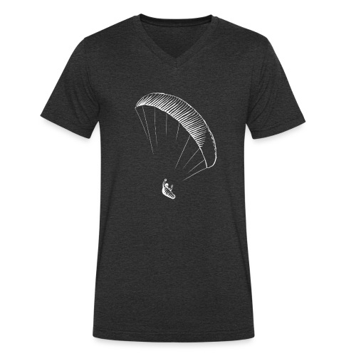 paraglider gerlitzen weiss - Männer Bio-T-Shirt mit V-Ausschnitt von Stanley & Stella
