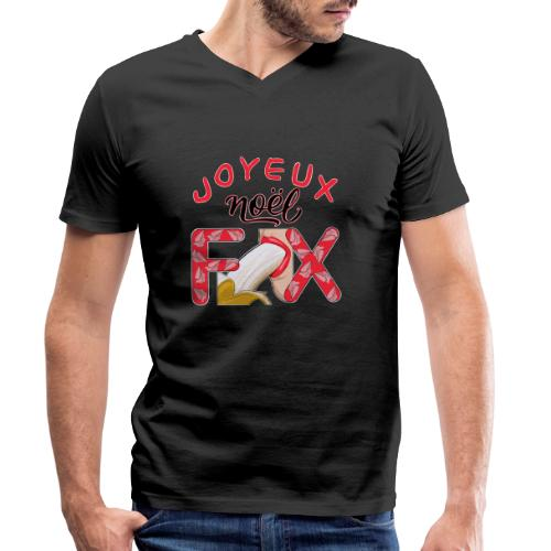 Joyeux Noël Félix T-Shirt Humour - T-shirt bio col V Stanley & Stella Homme