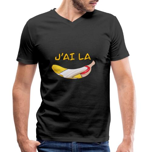 J'ai la banane - T-Shirt Humour - T-shirt bio col V Stanley & Stella Homme