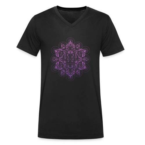 Sacred Traingle Circles Gradient - Men's Organic V-Neck T-Shirt by Stanley & Stella