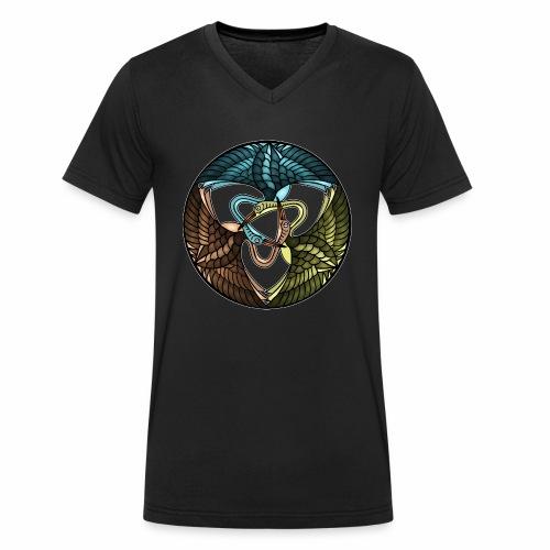 Kraniche - Männer Bio-T-Shirt mit V-Ausschnitt von Stanley & Stella
