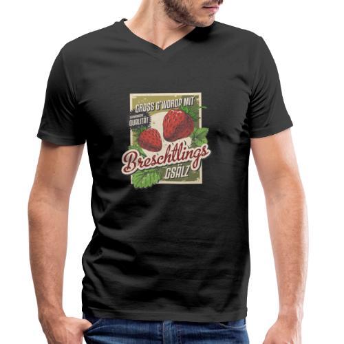 Breschtling - Männer Bio-T-Shirt mit V-Ausschnitt von Stanley & Stella