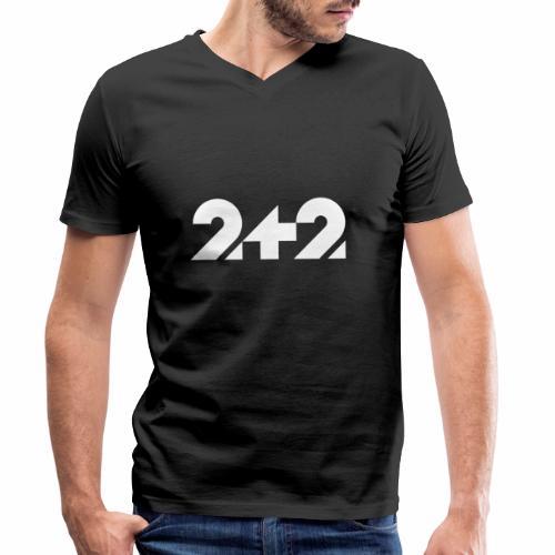 zwei plus zwei Stil - Männer Bio-T-Shirt mit V-Ausschnitt von Stanley & Stella