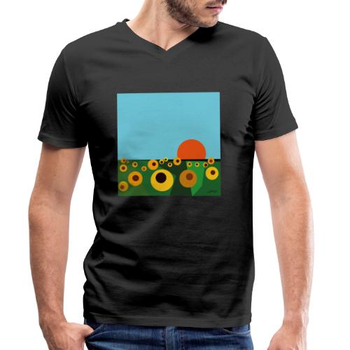 Sunflower - Men's Organic V-Neck T-Shirt by Stanley & Stella