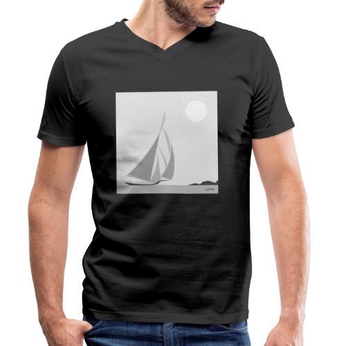 voilier - T-shirt bio col V Stanley & Stella Homme