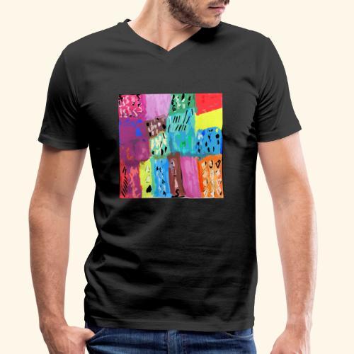 Acquarello 58 - T-shirt ecologica da uomo con scollo a V di Stanley & Stella