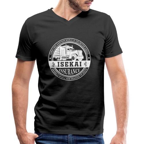 Funny Anime Shirt Isekai insurance Co. - White - Mannen bio T-shirt met V-hals van Stanley & Stella