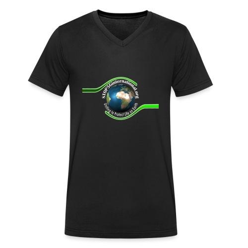 LOGO white font - Men's Organic V-Neck T-Shirt by Stanley & Stella