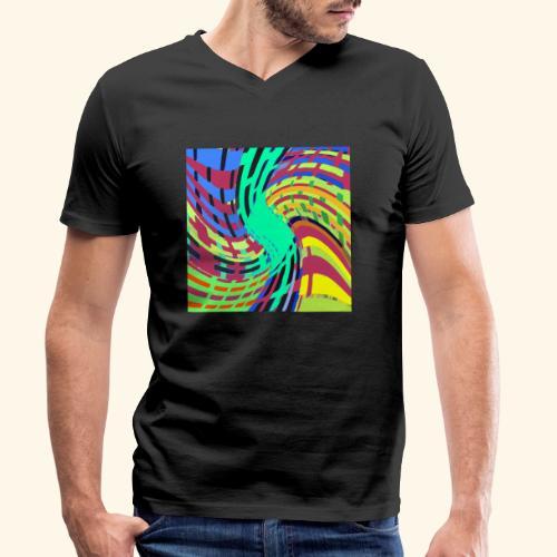 Coperta artistica - T-shirt ecologica da uomo con scollo a V di Stanley & Stella