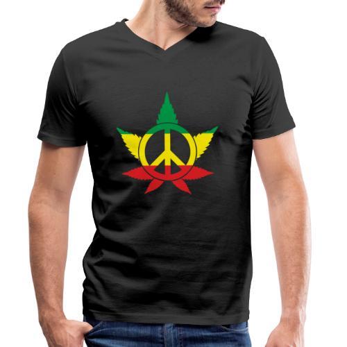 Peace färbig - Männer Bio-T-Shirt mit V-Ausschnitt von Stanley & Stella