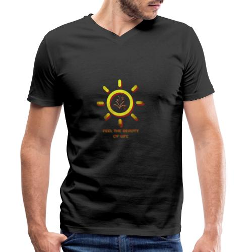 Beauty Of Life - Männer Bio-T-Shirt mit V-Ausschnitt von Stanley & Stella