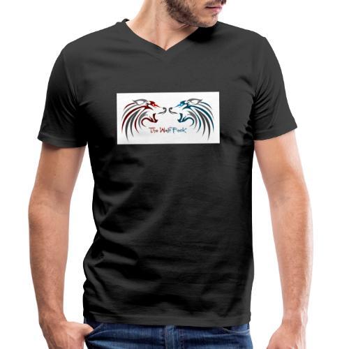 Jeffery - Økologisk T-skjorte med V-hals for menn fra Stanley & Stella