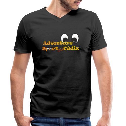 ADVENTURE SPORT CLUB CÁDIZ - Camiseta ecológica hombre con cuello de pico de Stanley & Stella