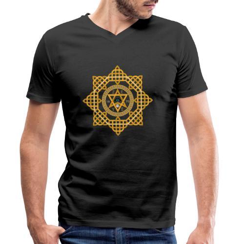 Hexagram ZEUS Mandala 1970 YinYang. 5. Dimension - Männer Bio-T-Shirt mit V-Ausschnitt von Stanley & Stella
