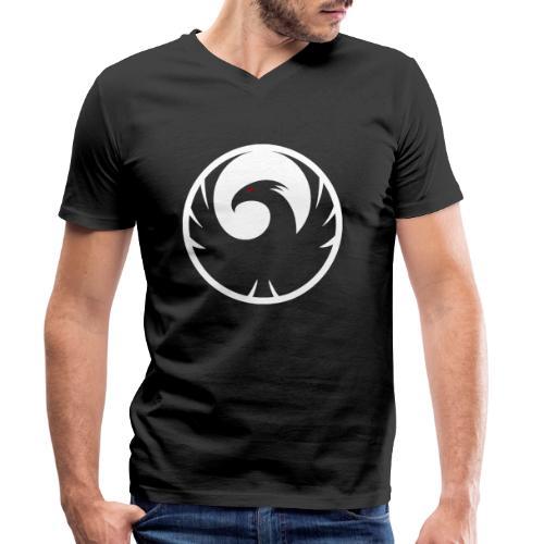 Phönix Logo Schattierung Phoenix weis white rund - Männer Bio-T-Shirt mit V-Ausschnitt von Stanley & Stella