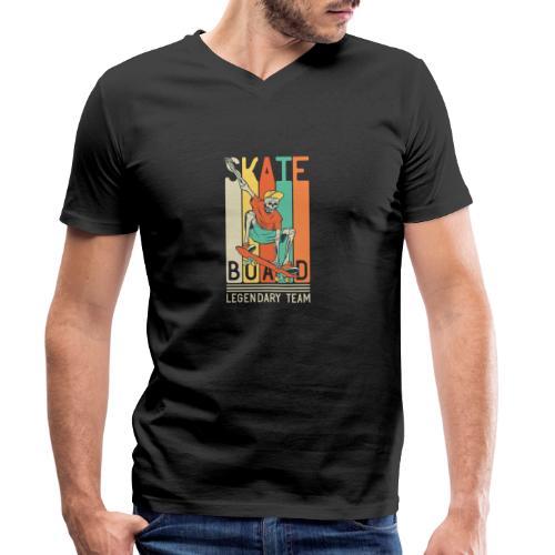 Skateboard 10 - T-shirt ecologica da uomo con scollo a V di Stanley & Stella