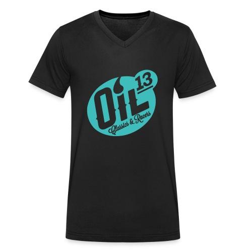 Oil13 Logo Scudo001 transparente azul 001 - Camiseta ecológica hombre con cuello de pico de Stanley & Stella