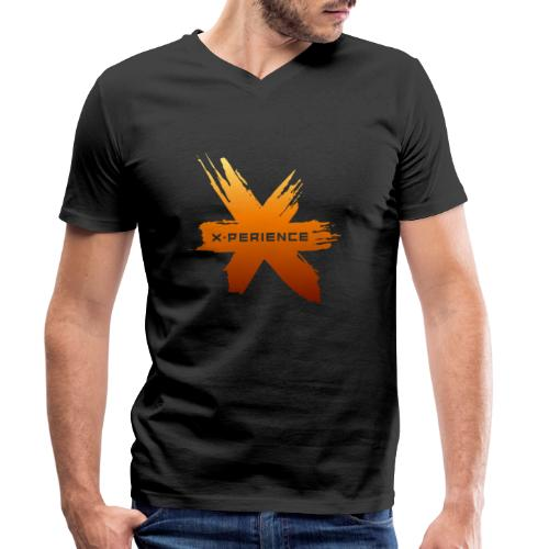X-Perience Orange Logo - Männer Bio-T-Shirt mit V-Ausschnitt von Stanley & Stella