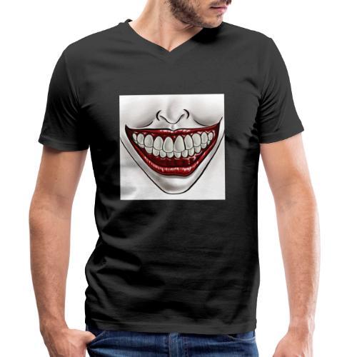 Smile Maske - Männer Bio-T-Shirt mit V-Ausschnitt von Stanley & Stella