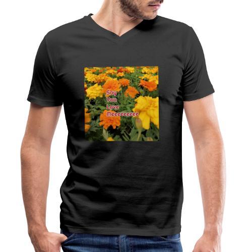 Säg att du älskar mig - Ekologisk T-shirt med V-ringning herr från Stanley & Stella