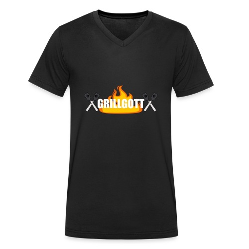 Grillgott Barbecue Experte - Männer Bio-T-Shirt mit V-Ausschnitt von Stanley & Stella