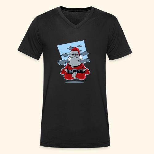 Papa Noël zen - T-shirt bio col V Stanley & Stella Homme