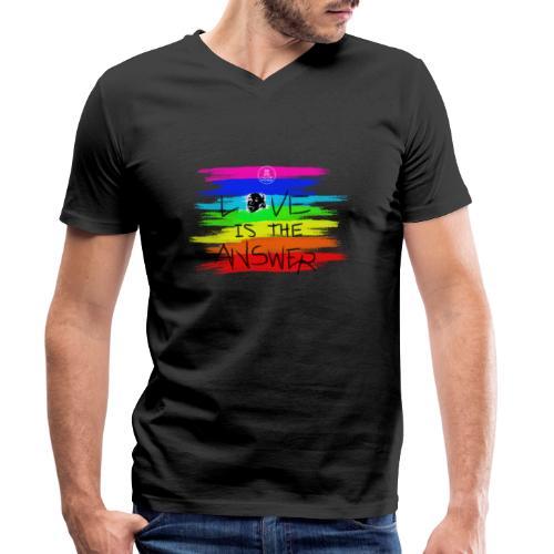 LoveIsTheAnswer MaitriYoga - T-shirt bio col V Stanley & Stella Homme