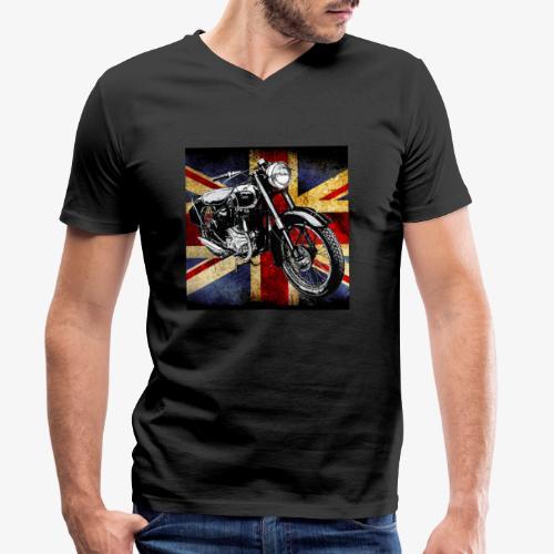 BSA motor cycle vintage by patjila 2020 4 - Men's Organic V-Neck T-Shirt by Stanley & Stella