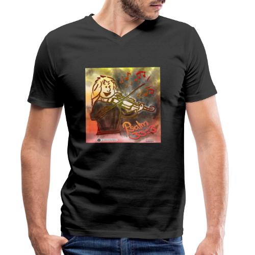 Design Geige Psalm 33 Vers 3 - auf Kleidung - Männer Bio-T-Shirt mit V-Ausschnitt von Stanley & Stella