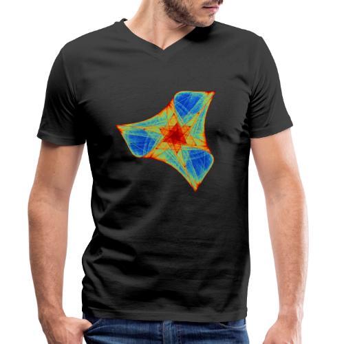 Bunter Bumerang Seestern Meerestier 12117j - Männer Bio-T-Shirt mit V-Ausschnitt von Stanley & Stella