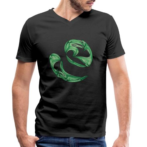 Unequal pair of green twins in the wind 7761alg - Men's Organic V-Neck T-Shirt by Stanley & Stella