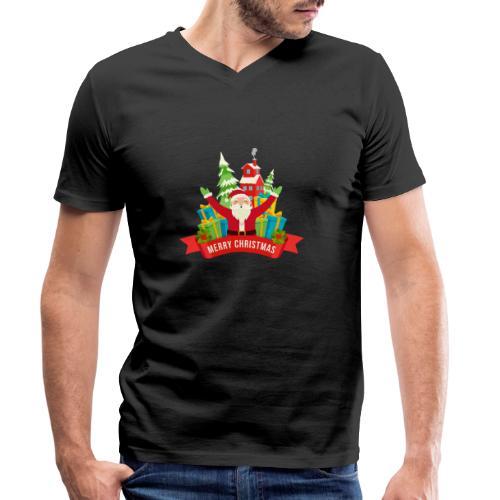 Santa Claus - Camiseta ecológica hombre con cuello de pico de Stanley & Stella
