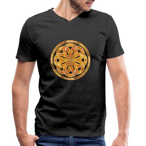 Spirituelles Zeichen - Blume des Lebens :-) - Männer Bio-T-Shirt mit V-Ausschnitt von Stanley & Stella
