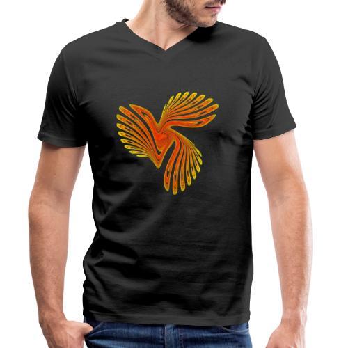 Vogel Paradiesvogel Kakadu Ikarus Chaos 4314aut - Männer Bio-T-Shirt mit V-Ausschnitt von Stanley & Stella