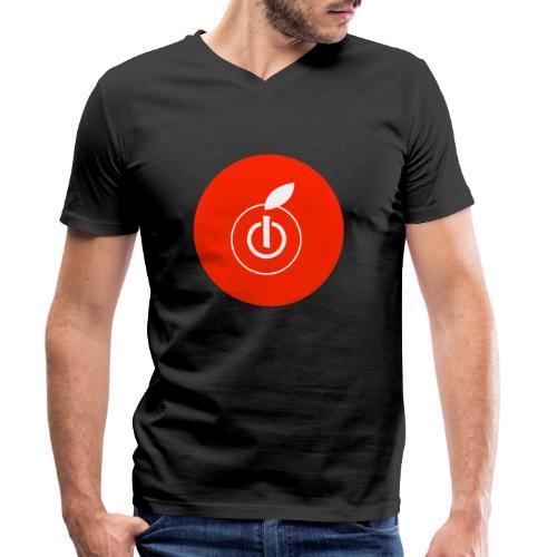 AppleZein Logo Natale - T-shirt ecologica da uomo con scollo a V di Stanley & Stella