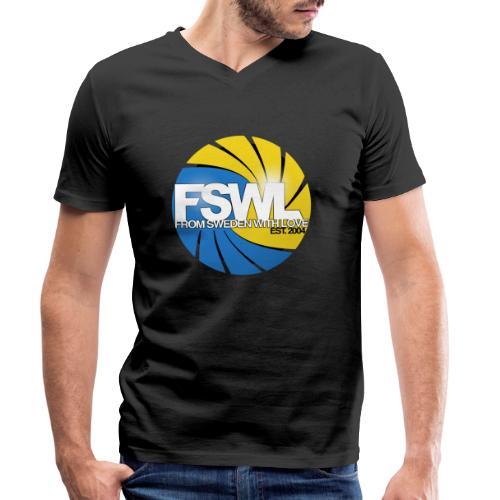 Transparent logo for From Sweden With Love (FSWL). - Ekologisk T-shirt med V-ringning herr från Stanley & Stella