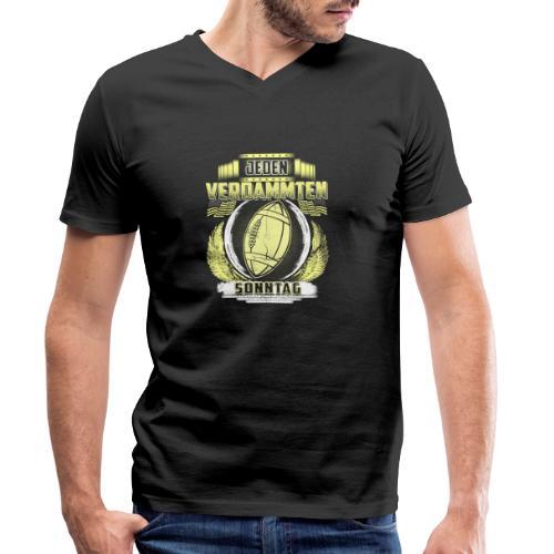 Jeden verdammten Sonntag - Männer Bio-T-Shirt mit V-Ausschnitt von Stanley & Stella