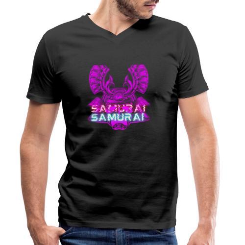 Cuberpunk samurai asian bushido shogun fighter - Ekologiczna koszulka męska z dekoltem w serek Stanley & Stella