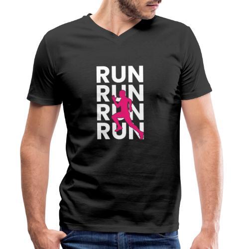 RUN - Männer Bio-T-Shirt mit V-Ausschnitt von Stanley & Stella