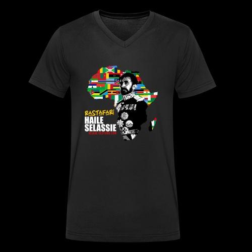 RASTAFARI ALL NATIONS - Männer Bio-T-Shirt mit V-Ausschnitt von Stanley & Stella