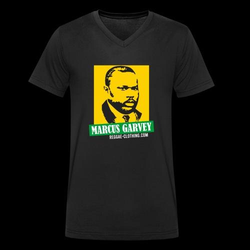 MARCUS GARVEY YELLOW GREEN SUBMARINE - Männer Bio-T-Shirt mit V-Ausschnitt von Stanley & Stella