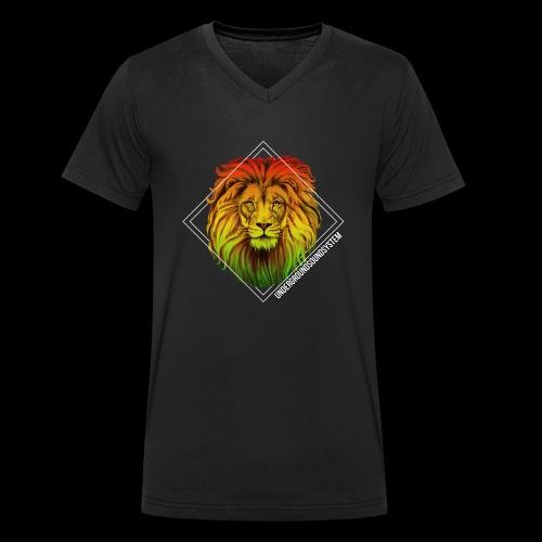 LION HEAD - UNDERGROUNDSOUNDSYSTEM - Männer Bio-T-Shirt mit V-Ausschnitt von Stanley & Stella