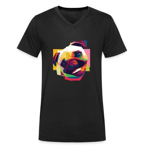MOPS P3TSHIRT WPAP - Männer Bio-T-Shirt mit V-Ausschnitt von Stanley & Stella