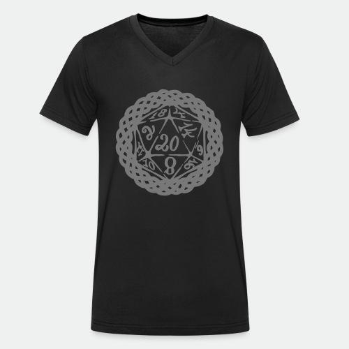 D20 Geschenk Glücksbringer Rollenspiel Würfel - Men's Organic V-Neck T-Shirt by Stanley & Stella