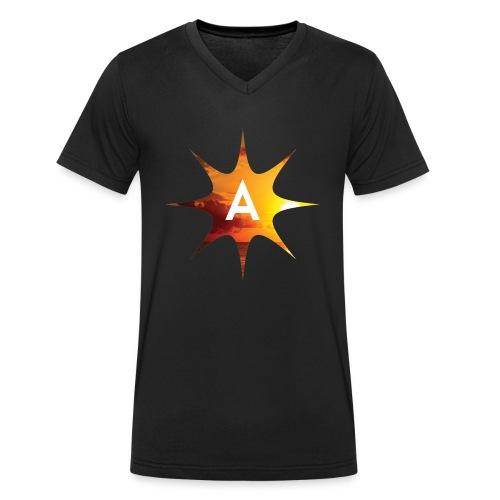 Sunshine Hoodie White - Ekologiczna koszulka męska z dekoltem w serek Stanley & Stella